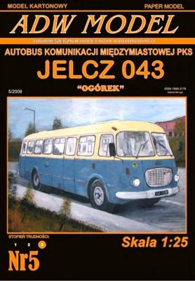 """ADW-005    *   Jelcz 043 """"Ogorek"""" (1:25)"""