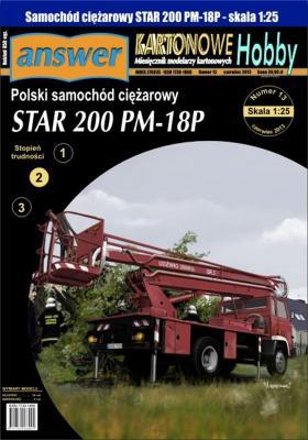 041   *   8\13   *   Polski samochod ciezarowy Star 200 PM-18P (1:25)   *   Answer  KH    +резка